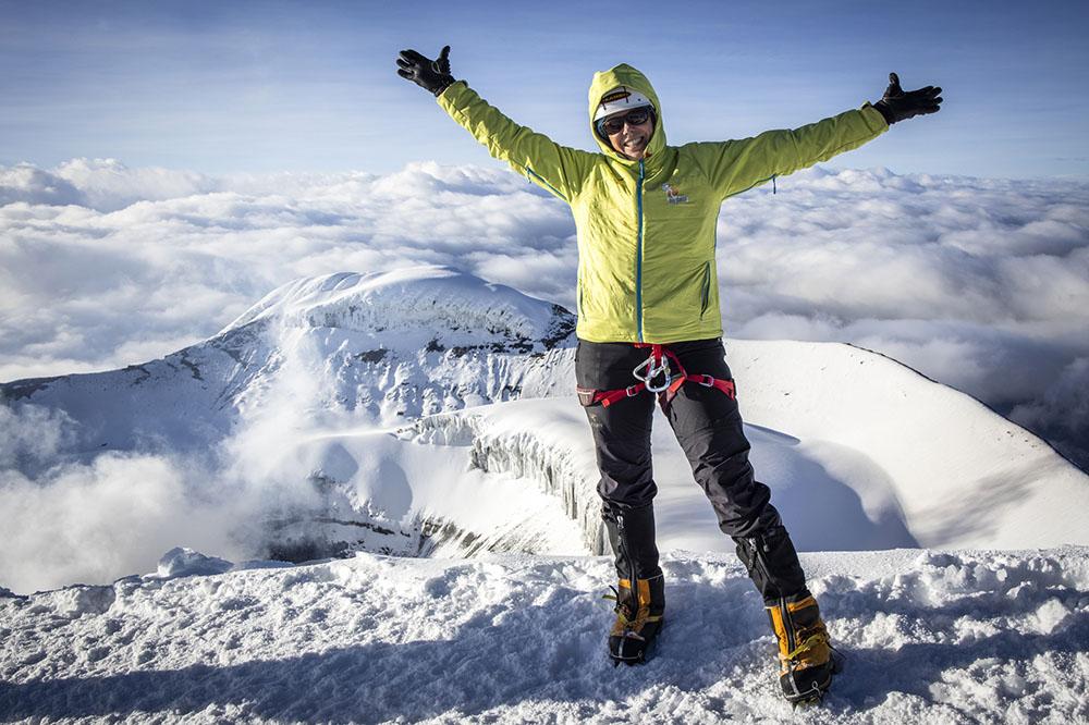 Cokie Cox, shown here on a recent climb in Ecuador